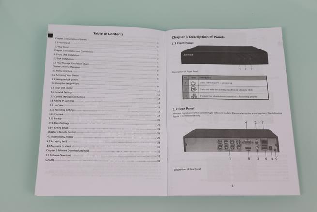 Guía de instalación rápida del DVR ANNKE sistema de videovigilancia 1080p