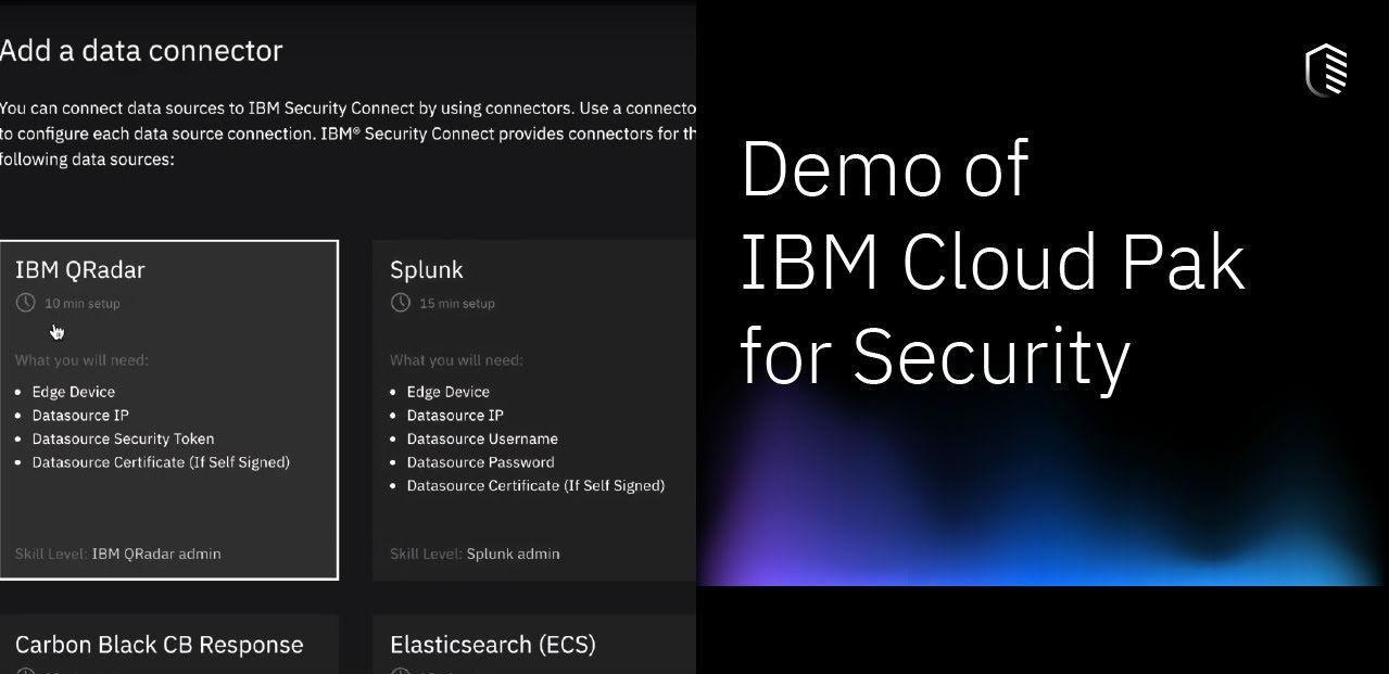 demostracion de ibm cloud pak for security