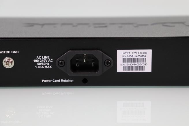 Fuente de alimentación del switch L2 D-Link DGS-1210-10MP