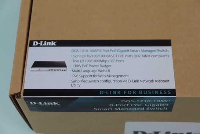 Características principales del switch L2 D-Link DGS-1210-10MP