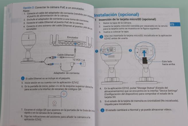 Guía de instalación y puesta en marcha de la cámara IP EZVIZ C3X