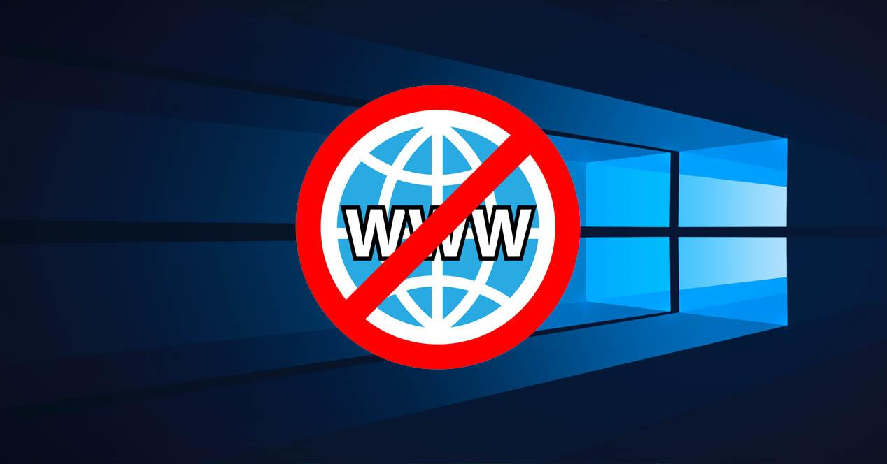 Problema de no Internet en Windows 10