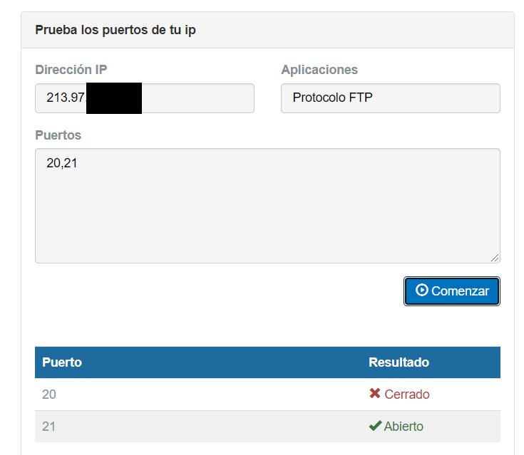 Scan puertos FTP