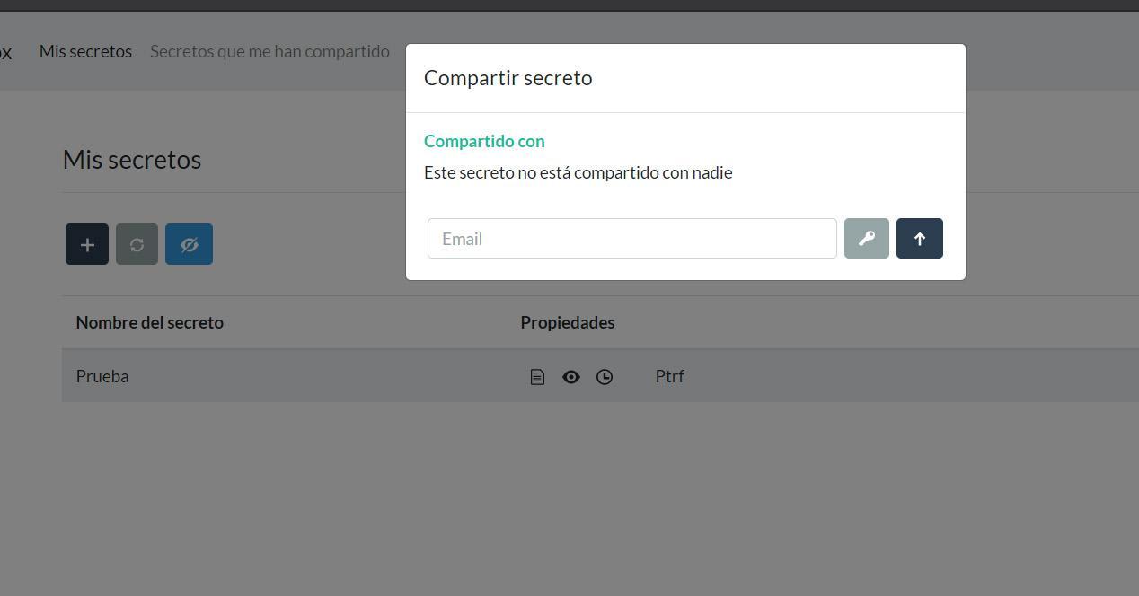 Compartir un secreto online