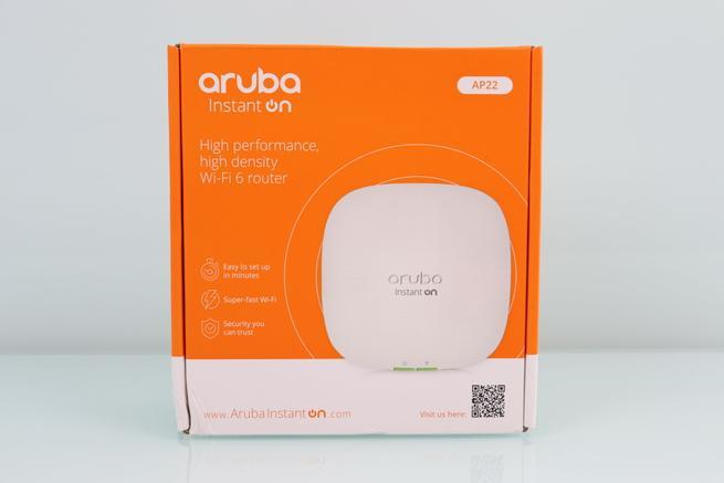 Frontal de la caja del AP profesional Aruba Instant On AP22