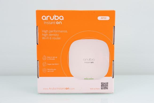 Trasera de la caja del AP profesional Aruba Instant On AP22