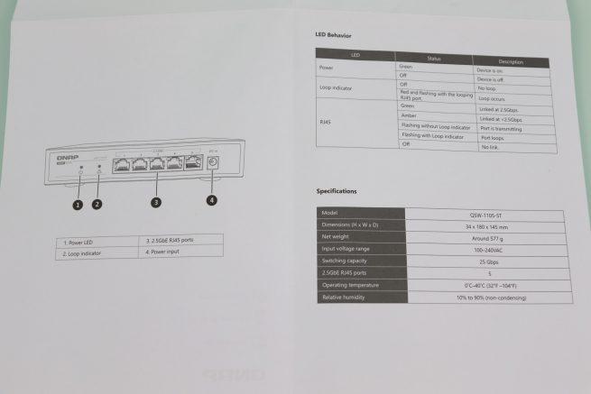 Guía de instalación rápida del switch Multigigabit QNAP QSW-1105-5T