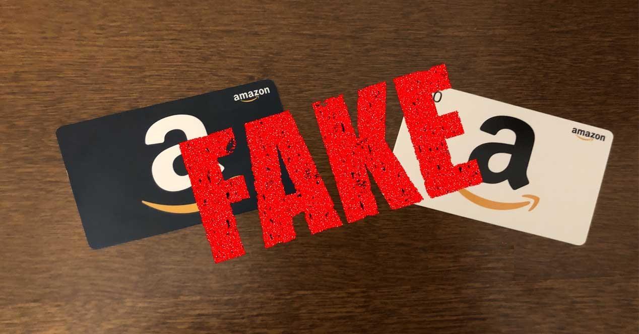 Tarjetas regalo de Amazon falsas