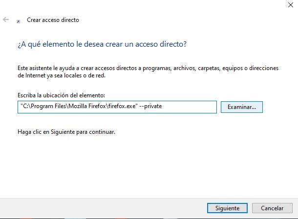 Create private access in Firefox