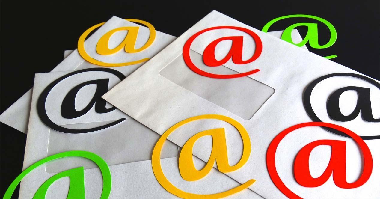 Crear un e-mail con el nombre de dominio