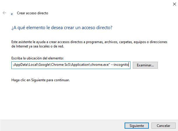 Abrir siempre Chrome en modo privado
