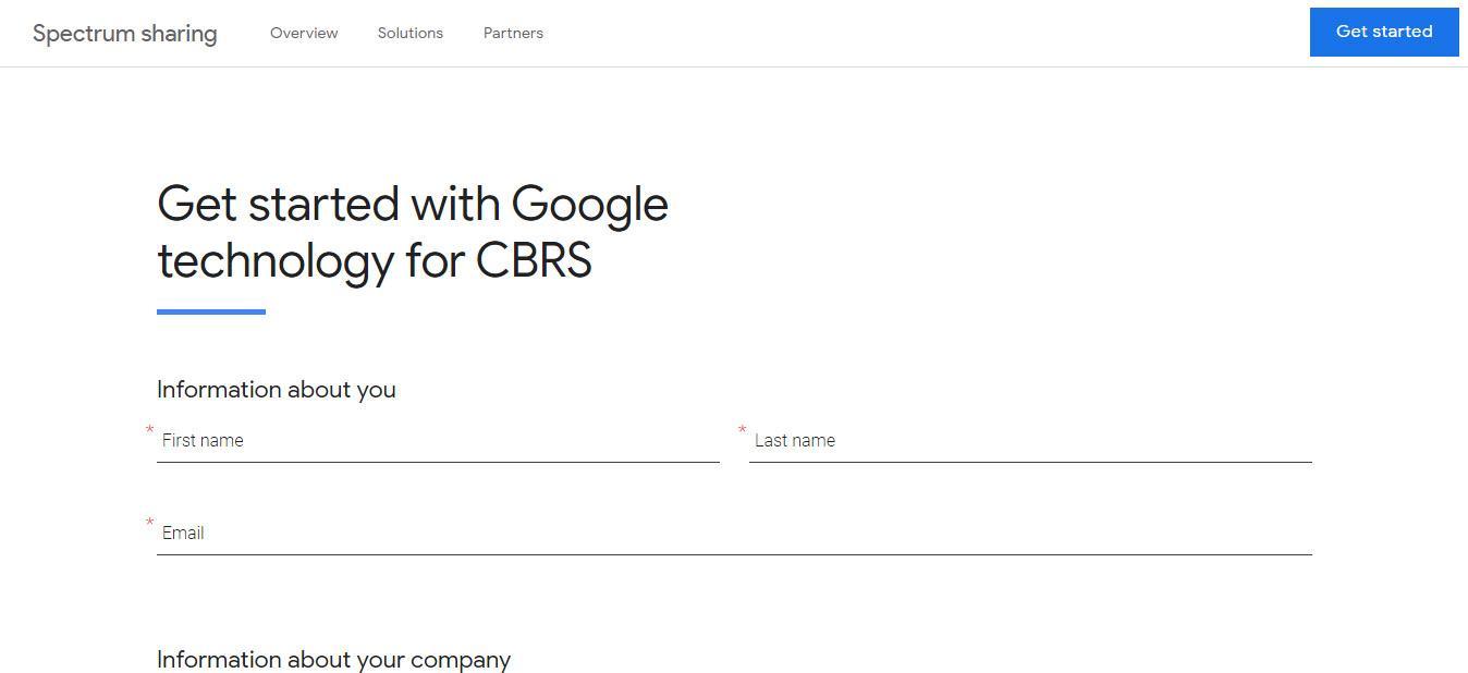 Registro en Google Network Planner