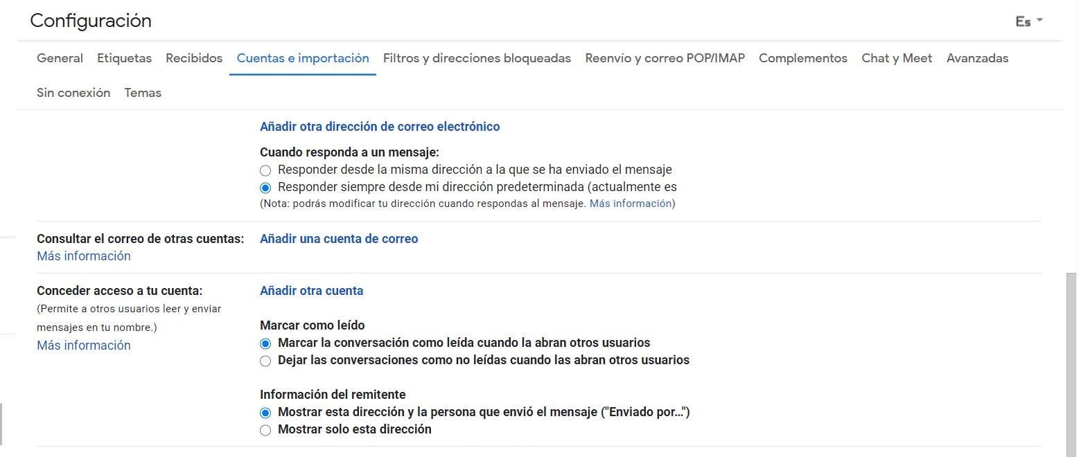 Añadir una cuenta en Gmail