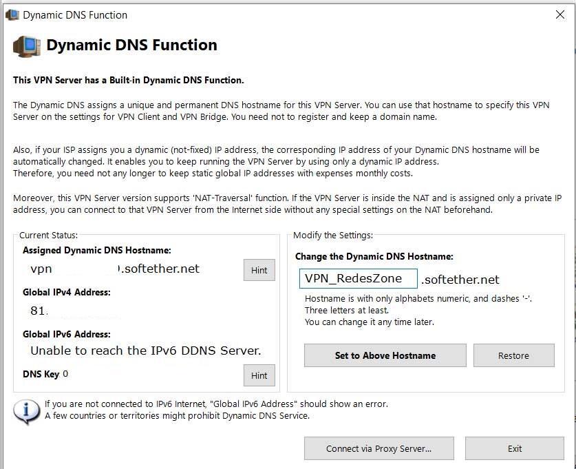 Crear nombre Dynamic DNS