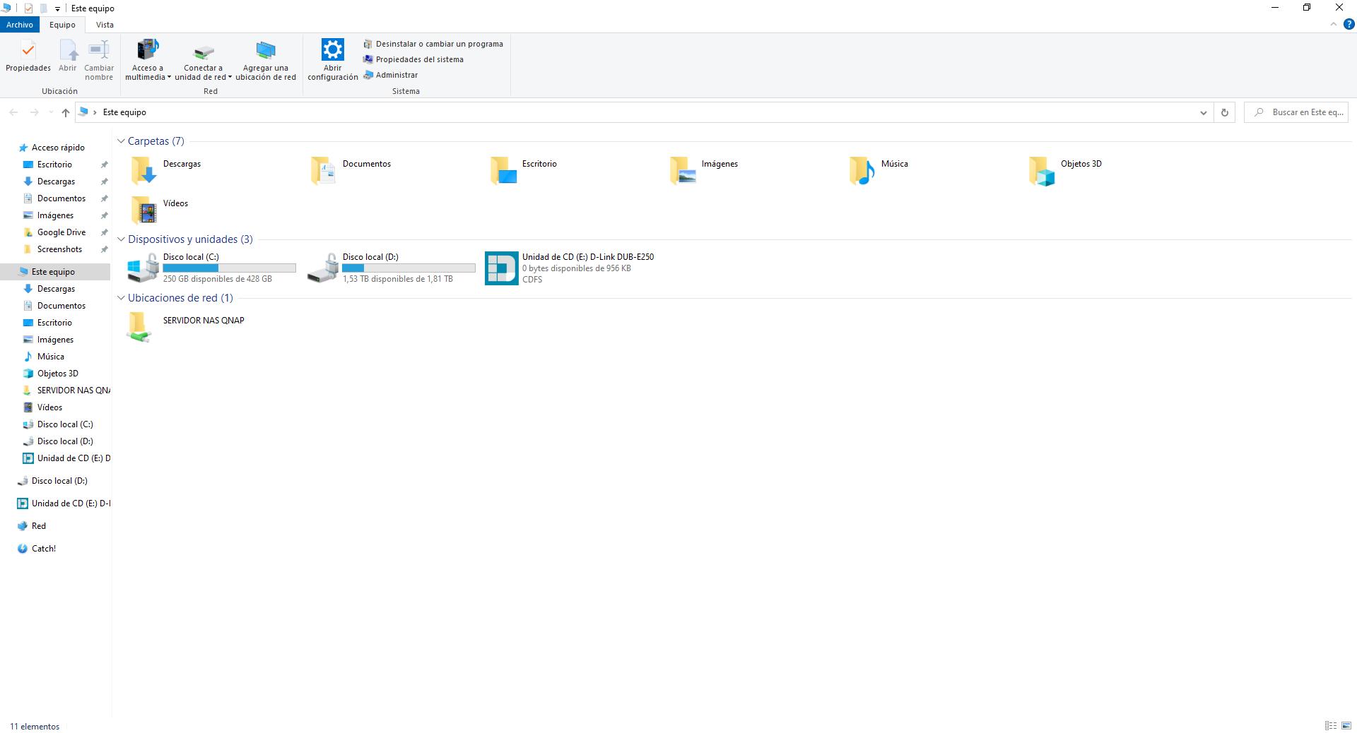 Vista de la instalación del D-Link DUB-E250 en Windows
