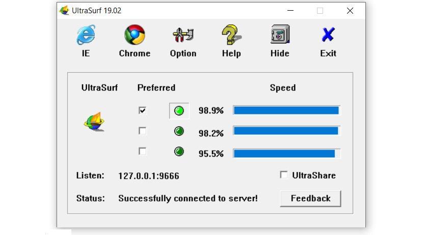 Utilizar UltraSurf