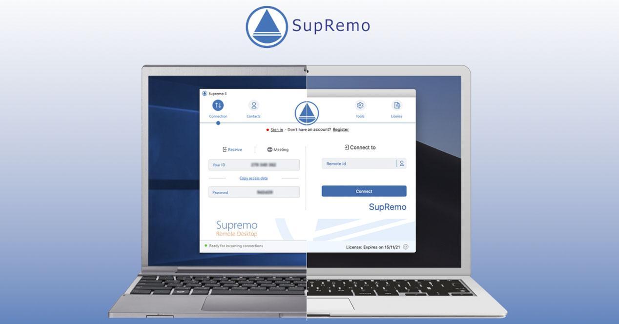 Accede a tus ordenadores con SupRemo de forma remota y gratis