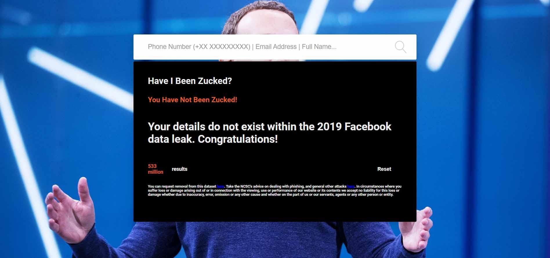 Datos no filtrados en Facebook
