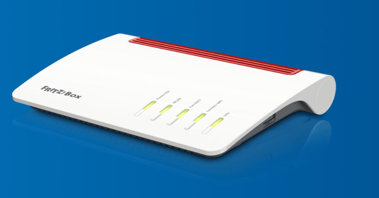 router parpadea