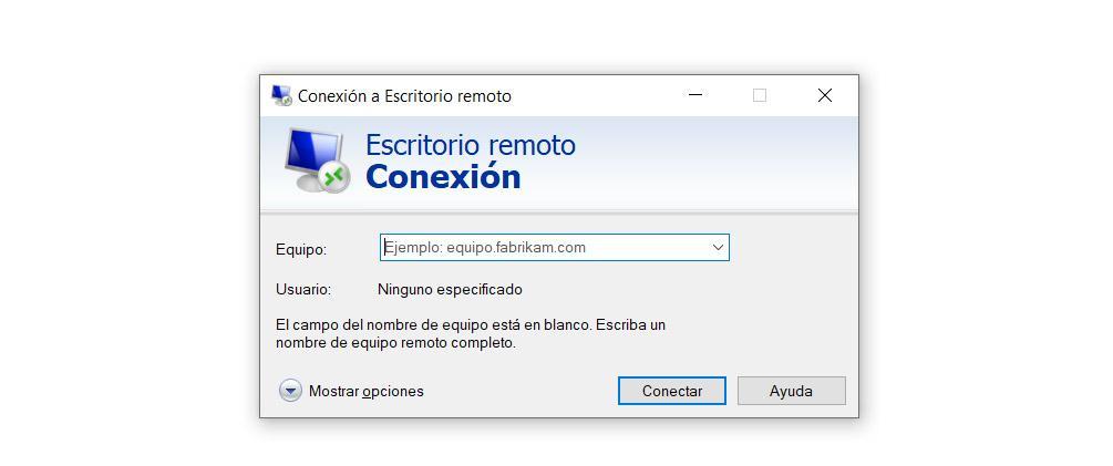 Escritorio remoto en Windows