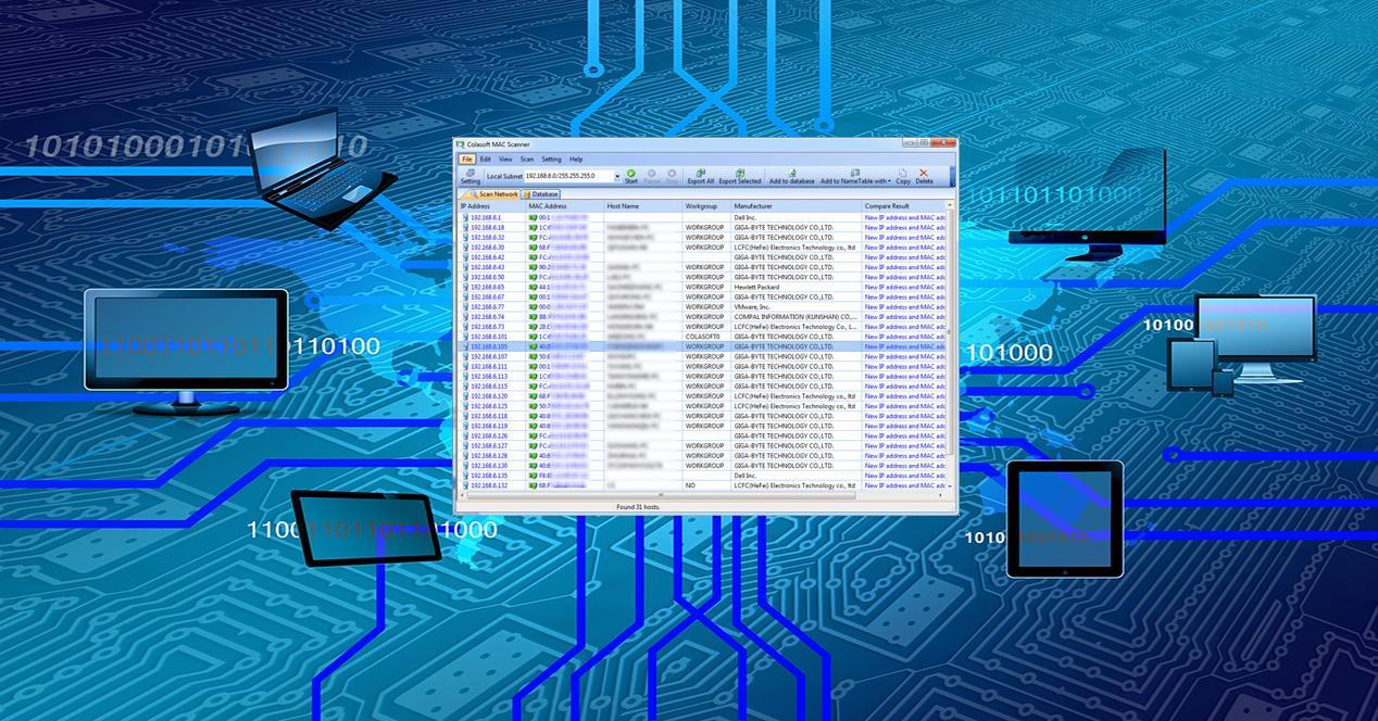 Colasoft MAC Scanner para descubrir las direcciones IP y MAC de mi LAN
