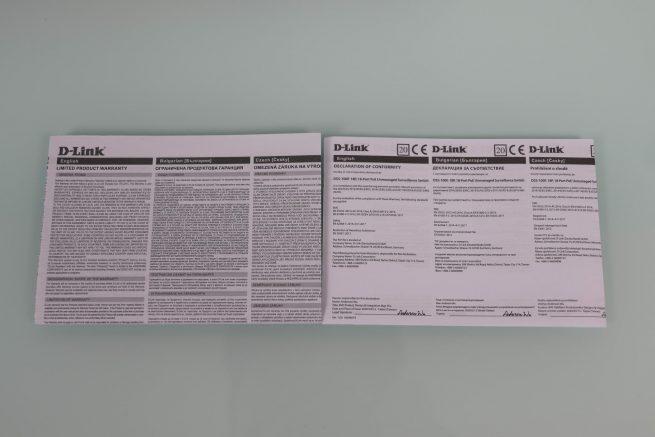 Vista de garantía del switch D-Link DSS-100E-18P