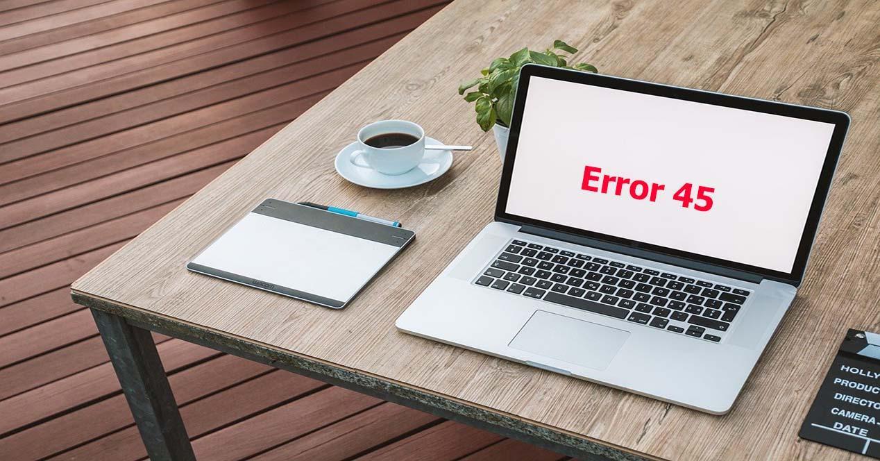 código de error 45