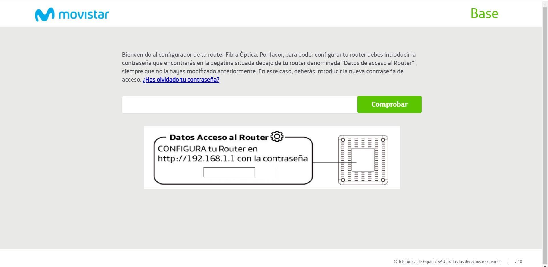 Fallo en el router HGU de Movistar