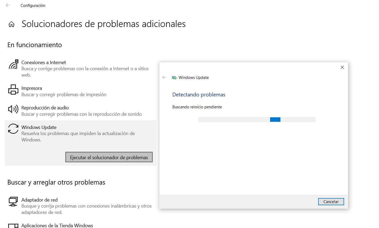 Solucionar fallos con Windows Update