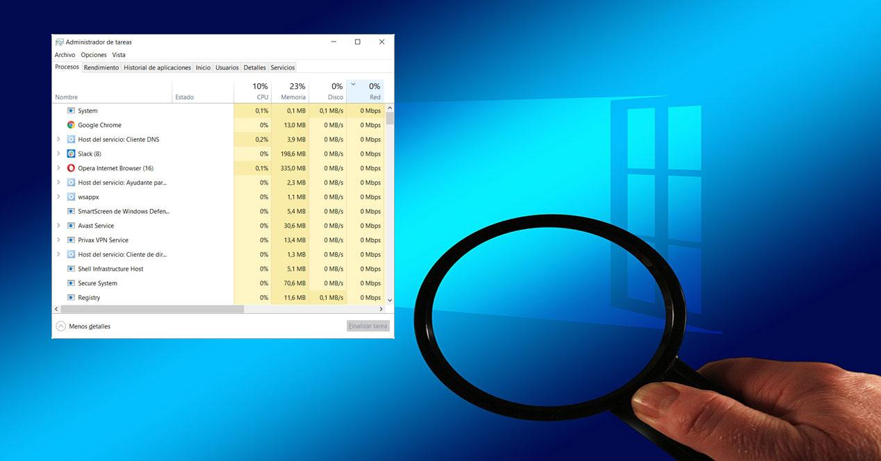 tráfico de datos en Windows 10