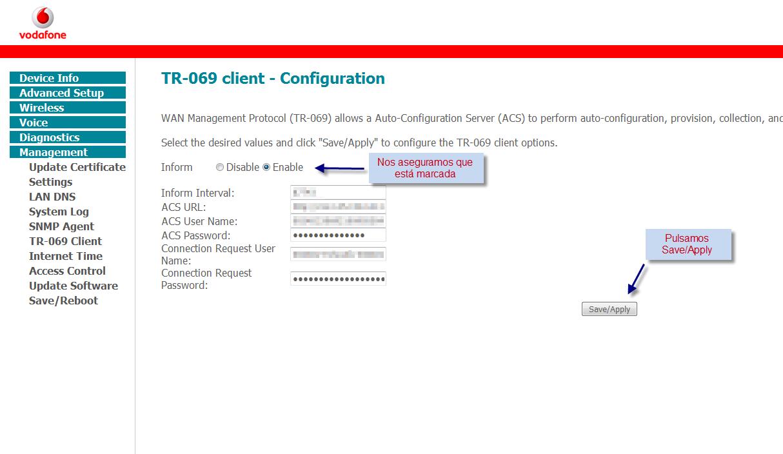 Clave administrador HG556a