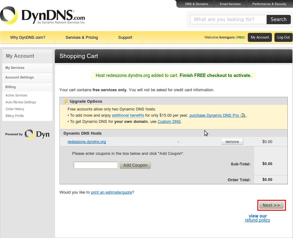 Cómo crear un servidor en DynDNS para acceder a FTP, VPN, o