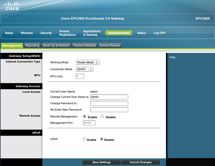 Cisco EPC3825 de ONO : Nueva versión de firmware integrando