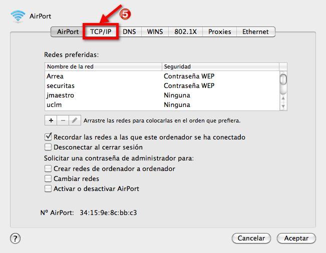 IP Fija MAC OS X