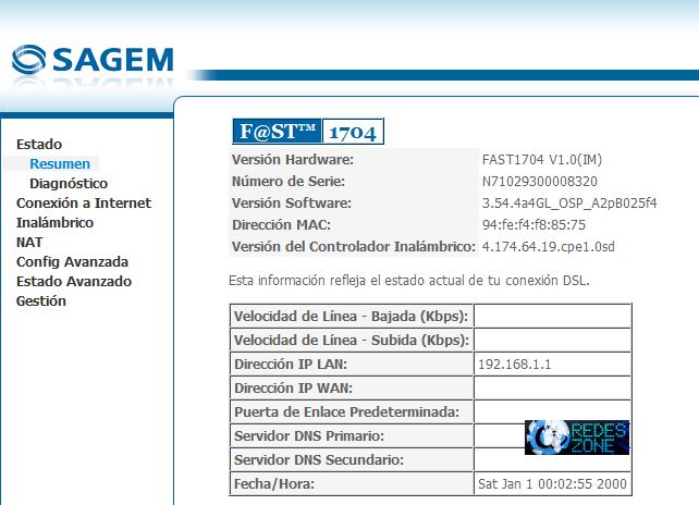 Manual Sagem Fast 1704
