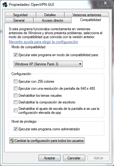 OpenVPN Windows7