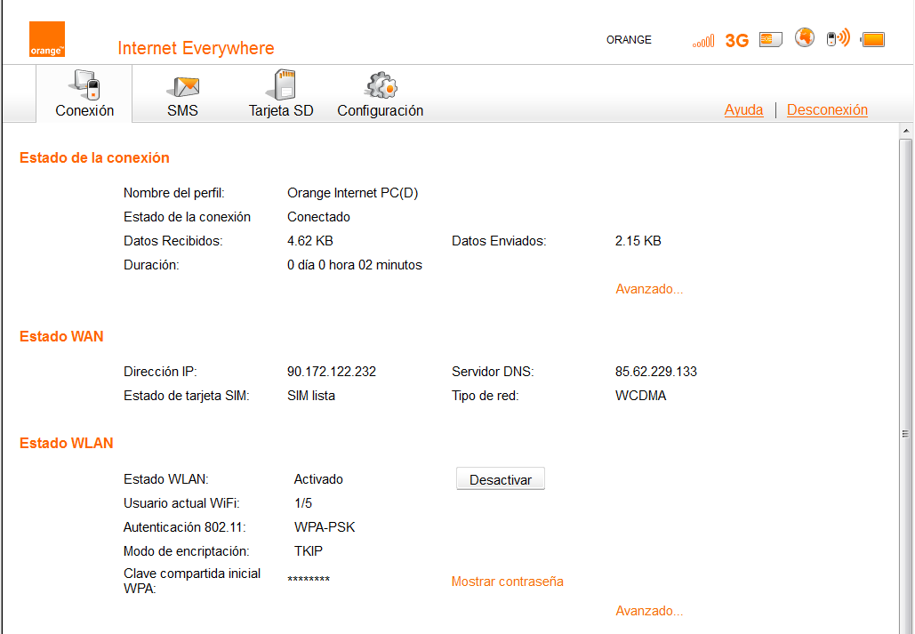 Router WiFi Orange 3: Manual de configuración