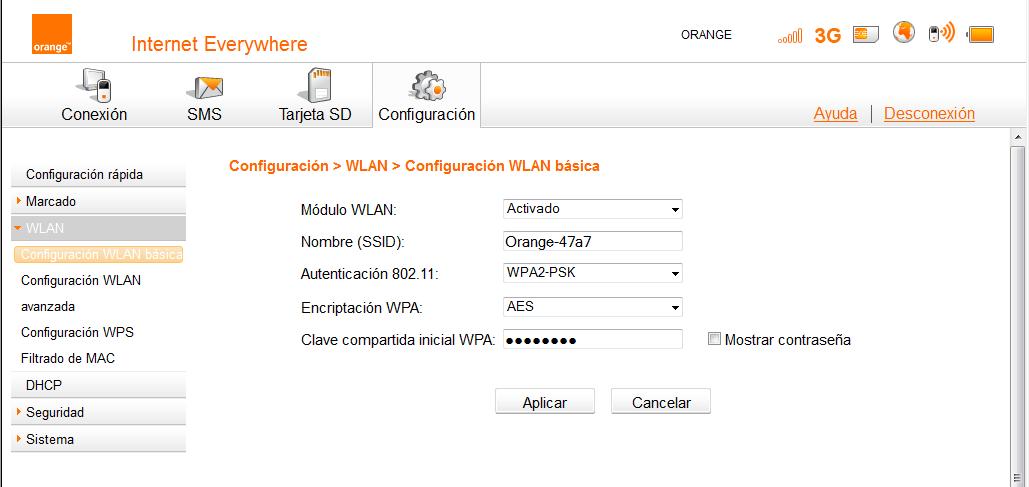 Router WiFi Orange 3: Manual de configuración