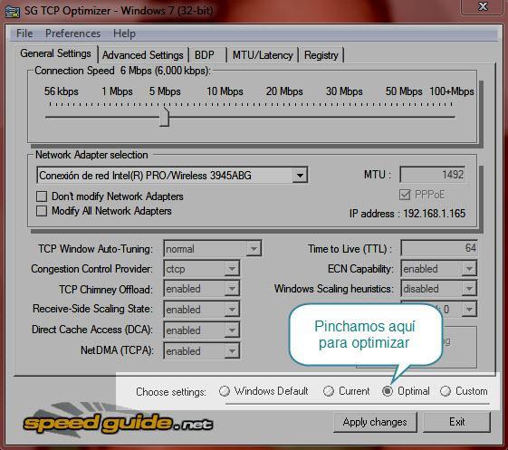TCPOptimizer