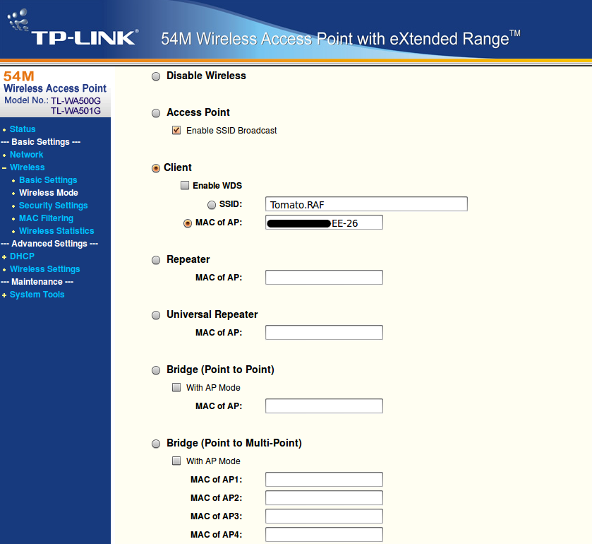 TP-LINK TL-WA501G