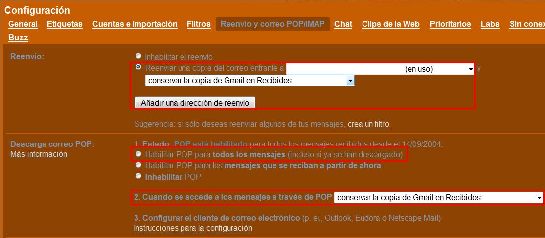 Traspasar emails