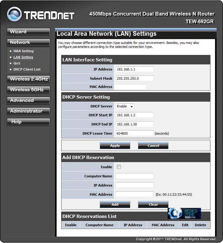 TRENDnet TEW-692GR : Manual de configuración